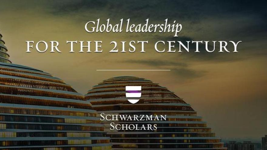 El anuncio con el que Schwarzman Scholars promociona las inscripciones en el curso, que dura un año.