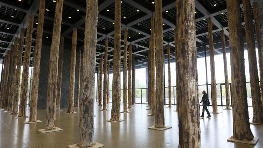 chipperfield planta 144 troncos de rbol en la neue nationalgalerie berlinesa. Black Bedroom Furniture Sets. Home Design Ideas