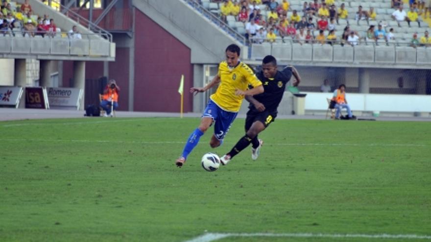Stephane Pignol, en el partido ante el Villarreal. (ACFI PRESS)