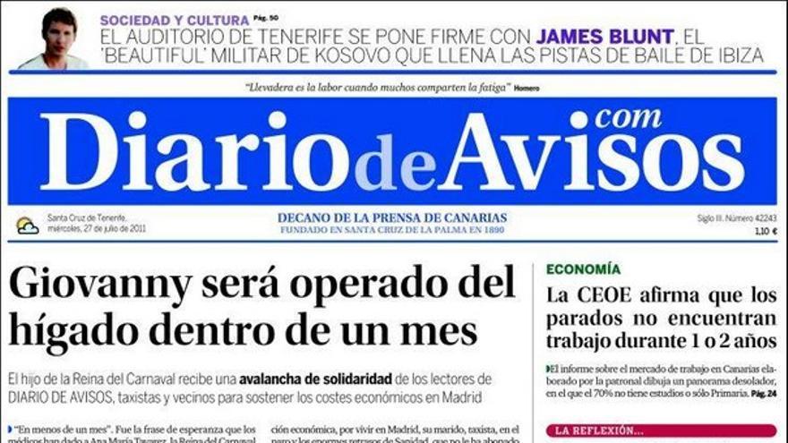 De las portadas del día (27/07/2011) #3