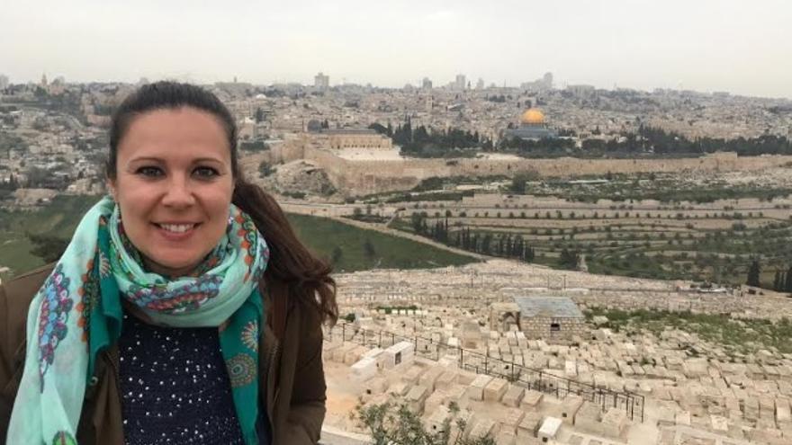 Elisabeth Masero Visiga, cooperante extremeña que trabaja en Palestina con Paz con Dignidad