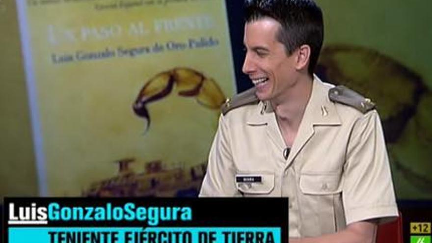 """Gonzalo Segura, durante su intervención en """"El Intermedio"""", en La Sexta."""