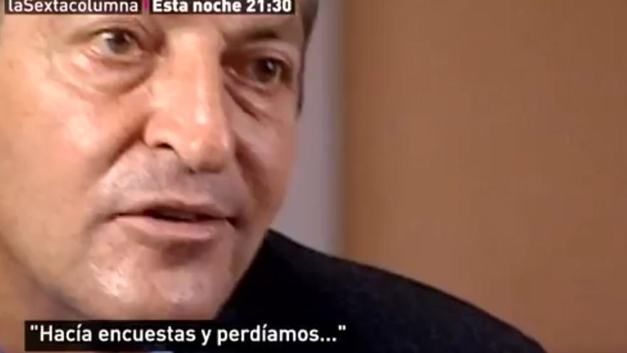 Adolfo Suárez durante la entrevista con Victoria Prego