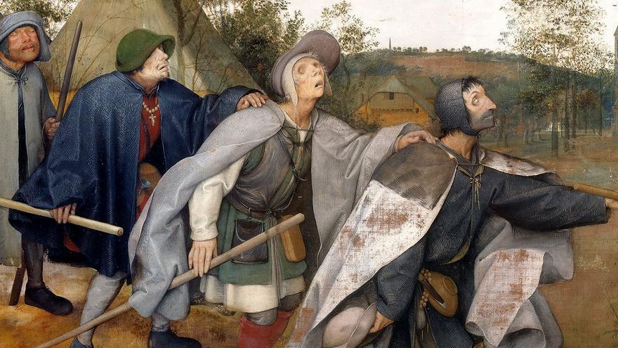 De parabel der blinden (Pieter Brueghel, 1568).