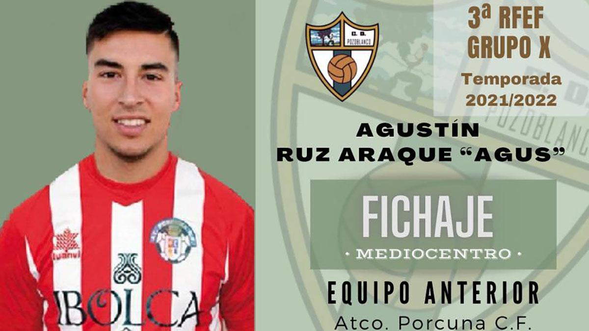 Agustín Ruz, nuevo jugador del Pozoblanco.
