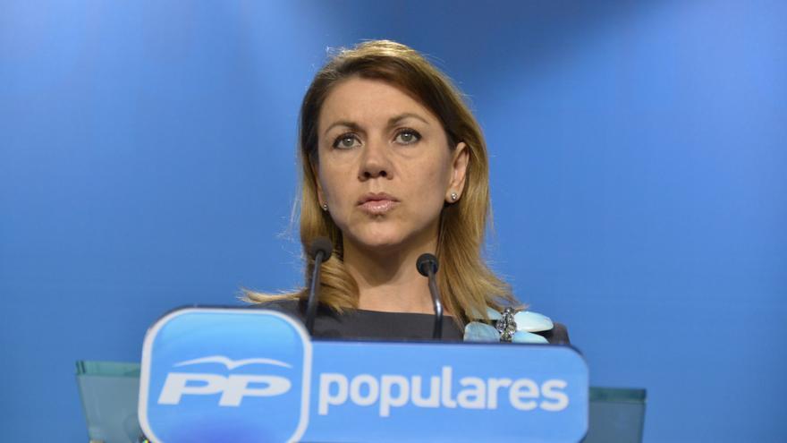 """Cospedal dice que no hay """"ningún debate abierto"""" sobre candidatos en Madrid"""