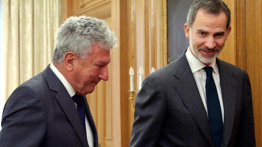 Pedro Quevedo se reune con Felipe VI en la ronda de contactos para la posible investidura de Pedro Sánchez
