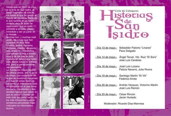 """Cartel de """"Historias de San Isidro"""""""