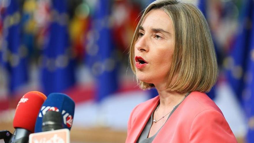 Mogherini apunta al primer despliegue de un batallón europeo en una crisis