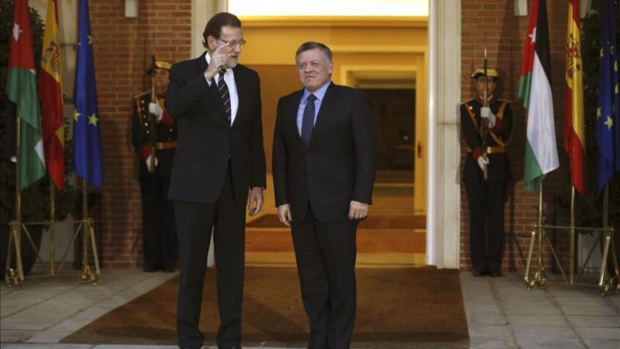 Rajoy y el rey de Jordania analizan la cooperación global antiterrorista