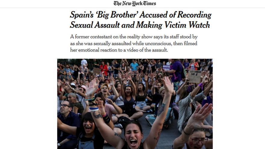 La noticia de The New York Times sobre el caso de violación en 'Gran Hermano'