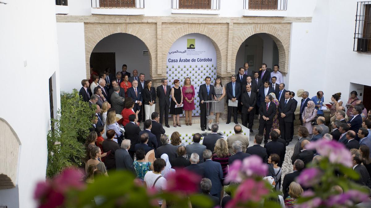Inauguración de la Casa Árabe en su sede de la casa Mudéjar, en el año 2015