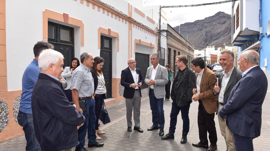 Visita institucional del Cabildo de Gran Canaria a La Aldea de San Nicolás