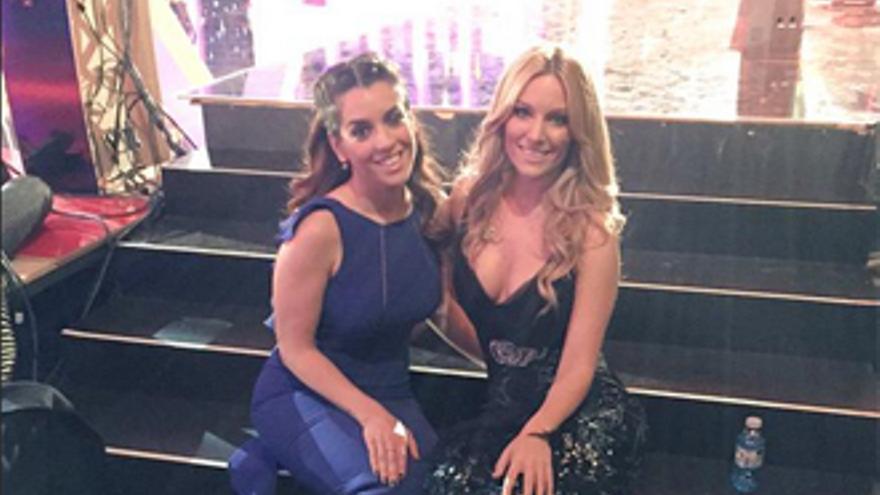 Las eurovisivas Edurne y Ruth Lorenzo, juntas por primera vez, en la 'Alfombra Roja' de Moreno