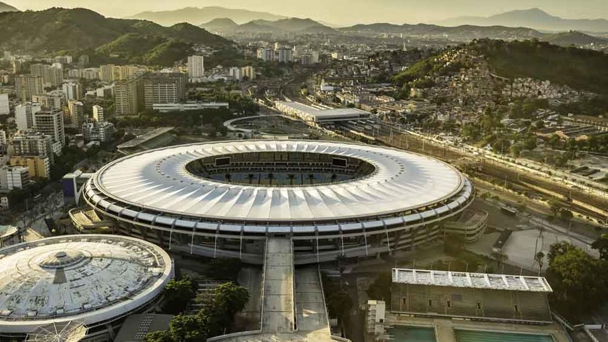 El Estadio Maracaná, símbolo del fútbol brasileño.