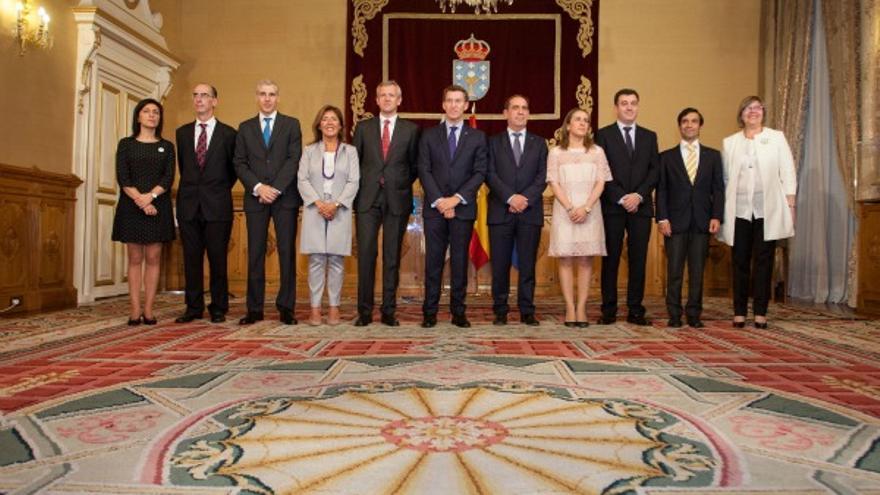 Composición actual del Gobierno de Feijóo, en el que sólo tres conselleiros se mantienen desde 2009