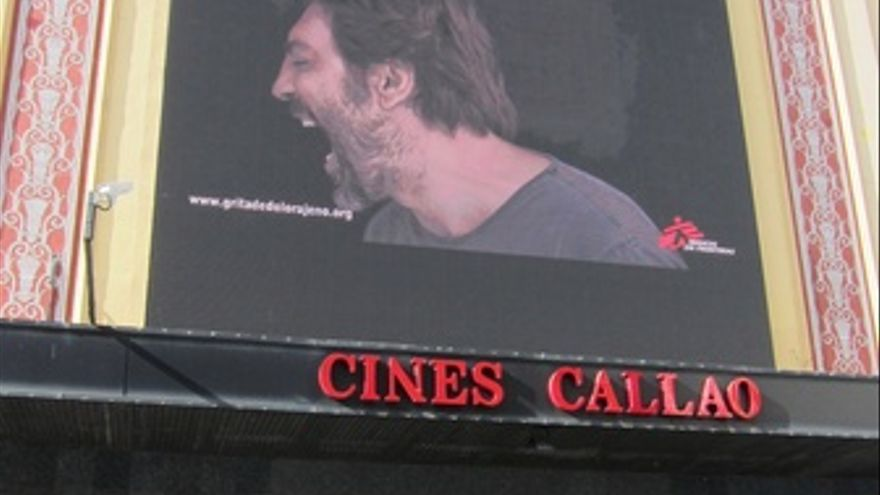 La Campaña 'Grita De Dolor Ajeno' En Los Cines Callao De Madrid