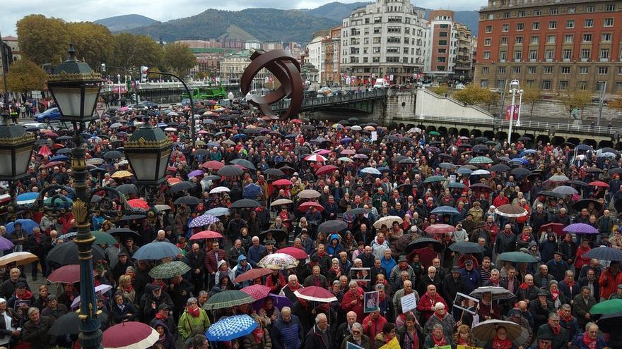 Los pensionistas vascos y navarros preparan una movilización conjunta en fechas próximas a las elecciones de mayo