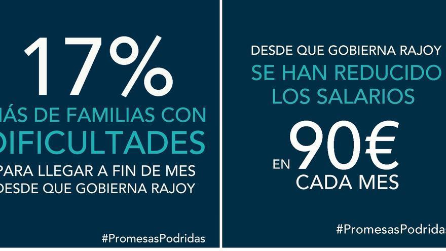 """El PSOE lanza una campaña virtual para denunciar las """"promesas podridas"""" de Rajoy"""