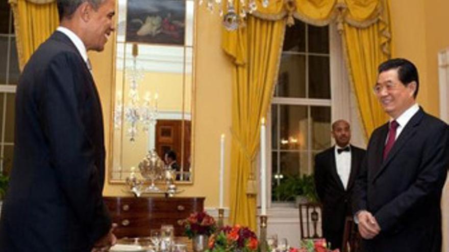 Presidente de Estados Unidos, Barack Obama, con su homólogo de China, Hu Jintao