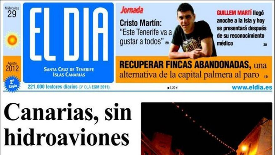 De las portadas del día (29/08/2012) #3