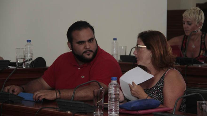 Samuel Martín, concejal de Urbanismo, en el último pleno. (DE LA CRUZ)