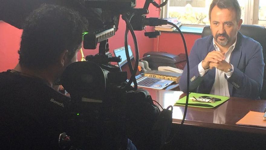 Enrique J. Vila, en el rodaje de 'Bastardo'.