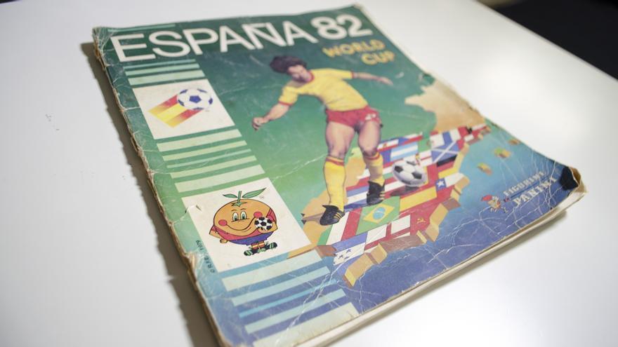 Álbum de Panini del Mundial 1982.
