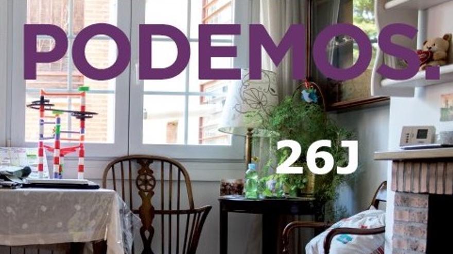Portada del catálogo-programa de Podemos