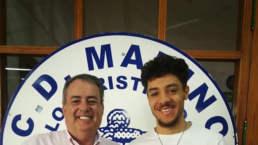 Santamaria, a la izquierda, presidente del CD Marino.
