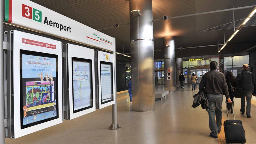 La parada Aeropuerto de Metro Valencia.