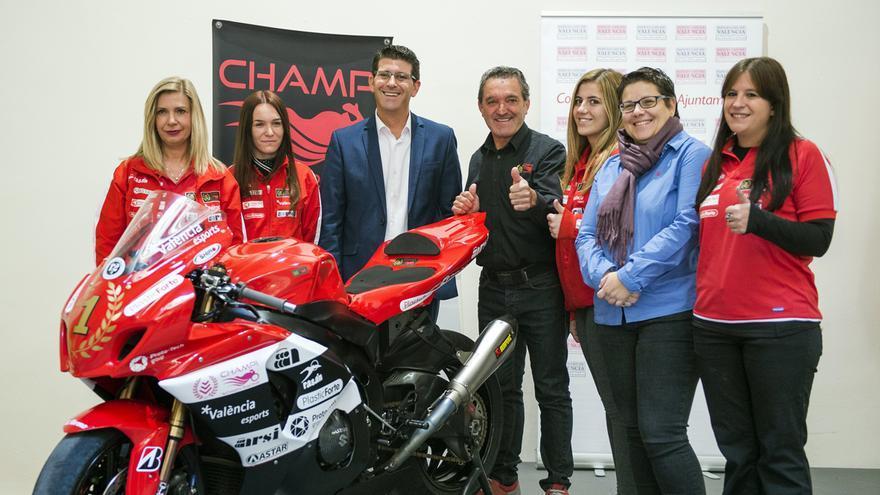 Isabel Garcia, en la presentación del Champi Women Racing