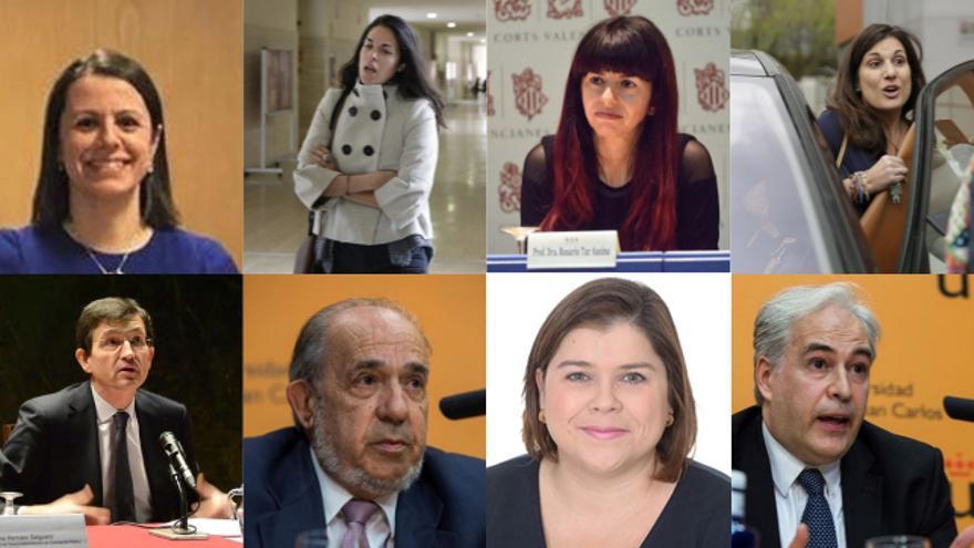 Fila de arriba (izqda a dcha): López de los Mozos, Rosado, Tur y Souto. Fila inferior: Arenilla, Álvarez Conde, González y Chico
