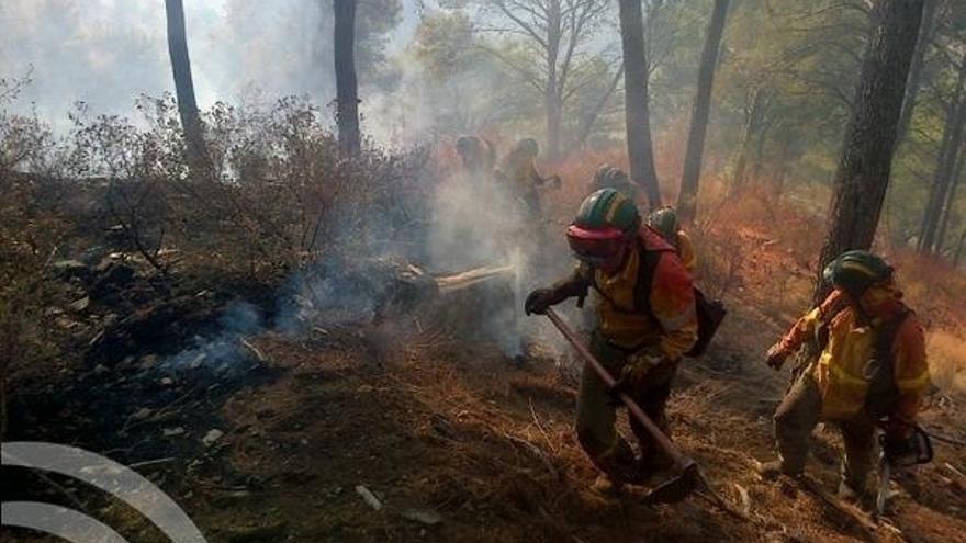 El incendio de los Montes de Málaga afecta a un perímetro de unas 260 hectáreas