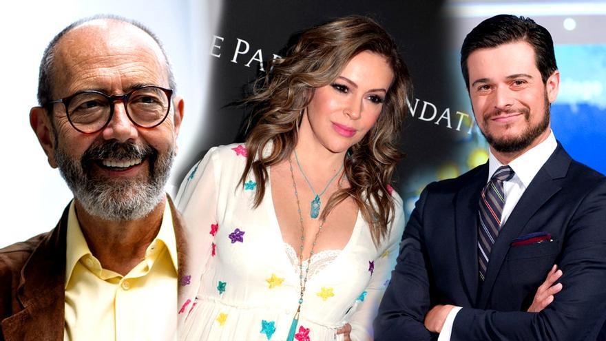 Miguel Rellán, Alyssa Milano y Martín Barreiro