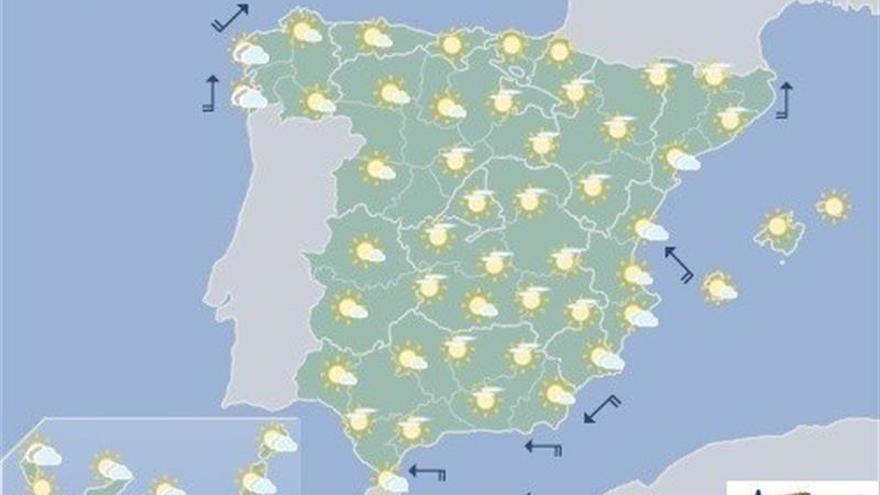 Hoy, aumento de nubosidad en Galicia y suben temperaturas en el Cantábrico
