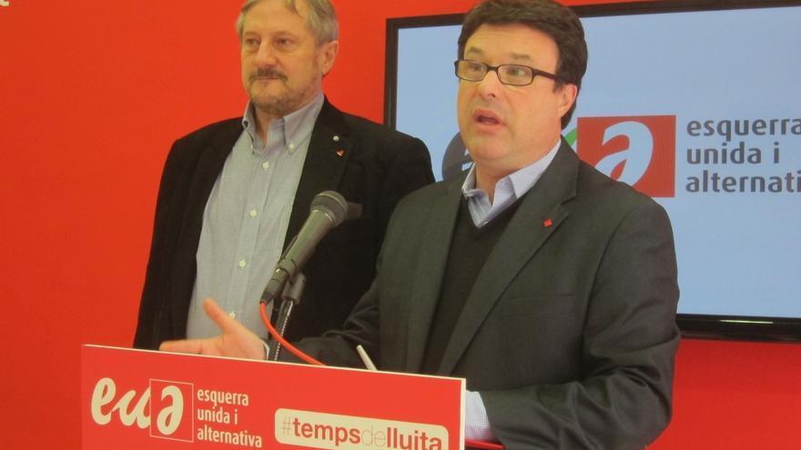 IU advierte también que una Cataluña independiente saldría de la UE
