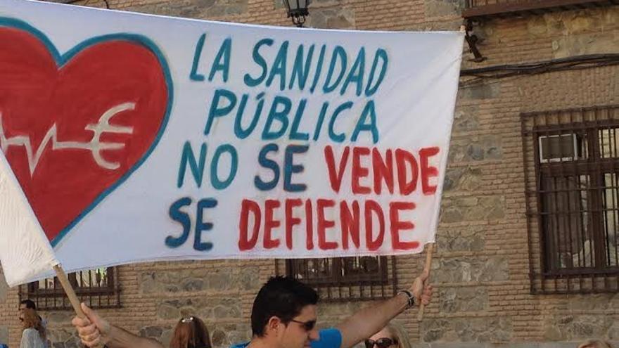 Manifestación por la sanidad pública, Toledo, 18/10/14 / Foto: Javier Robla