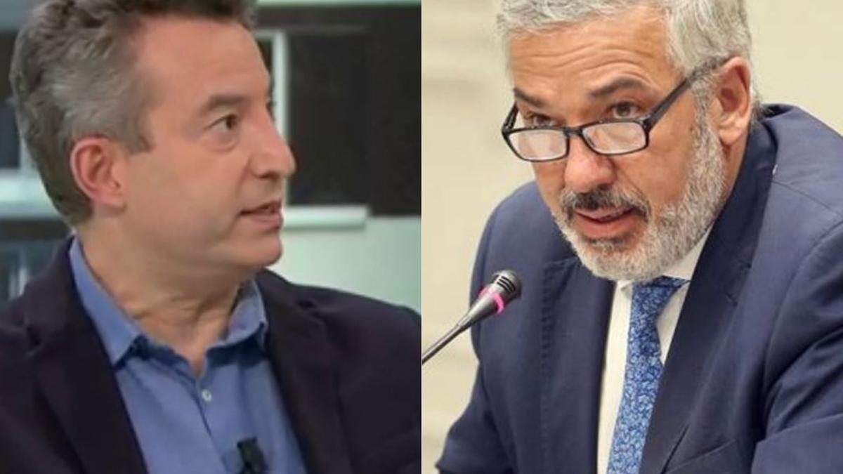 César Carballo, médico de urgencias (izquierda), y Lluís Serra, portavoz del comité científico que asesora al Gobierno de Canarias en la pandemia (derecha)