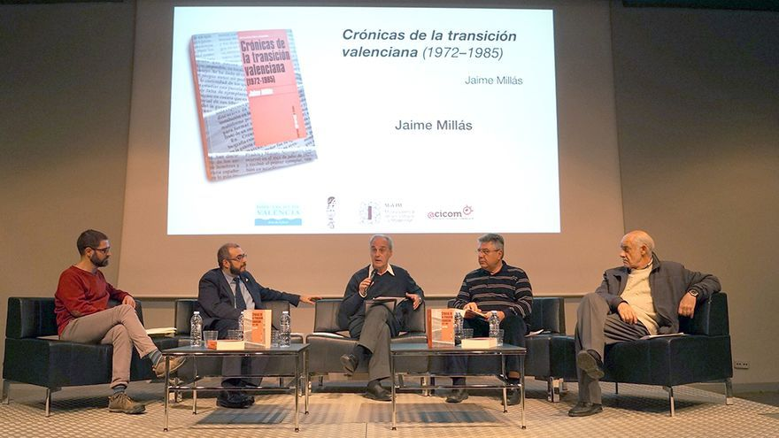 Un momento de la presentación del libro de Jaime Millás 'Crónicas de la transición valenciana'