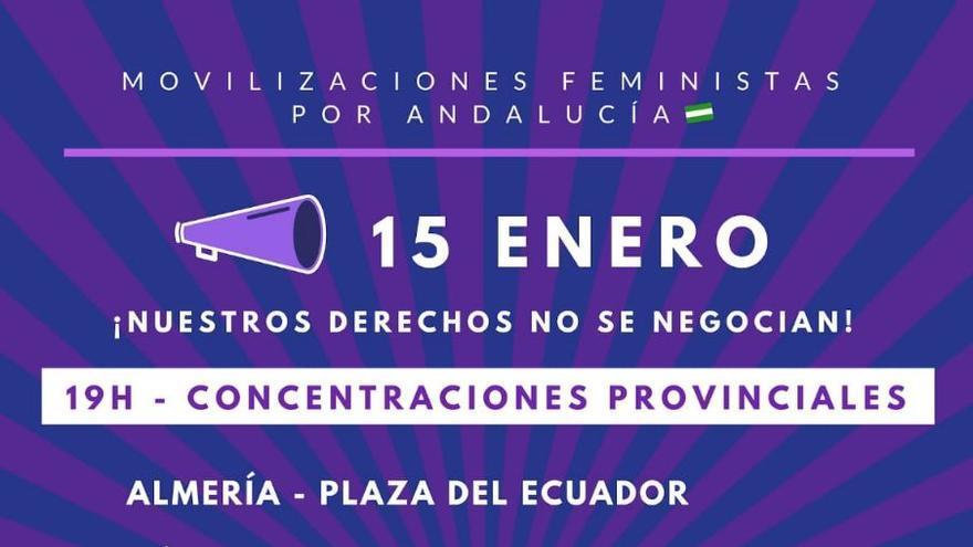 """Organizaciones de mujeres y feministas protestarán a las puertas del Parlamento andaluz: """"¡Ni un paso atrás en igualdad!"""""""