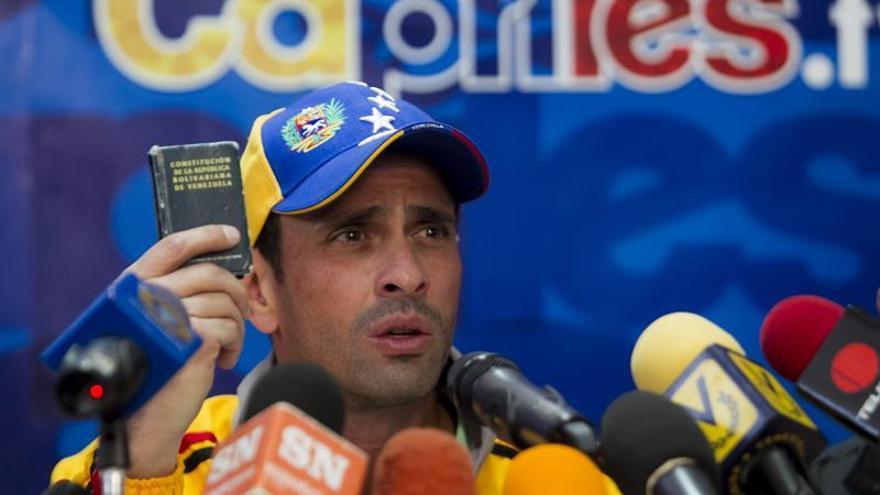 Capriles pide desconocer el decreto del estado de excepción dictado por Maduro