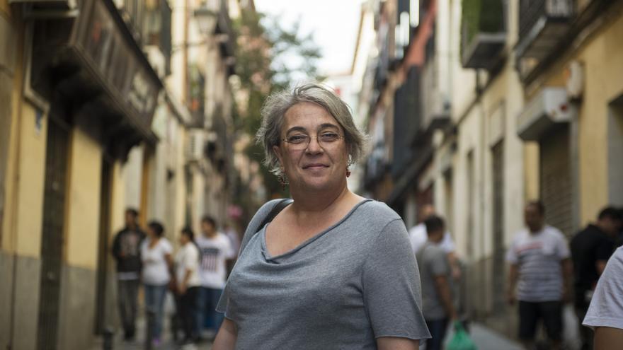 Maribel Torregrosa antes del inicio de manifestación del Orgullo Crítico en Madrid / Álvaro Minguito