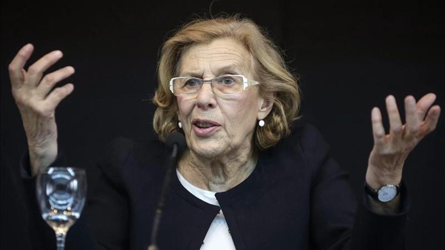 """Manuela Carmena afirma que """"hay que ensayar espacios de retorno a la gestión pública"""""""