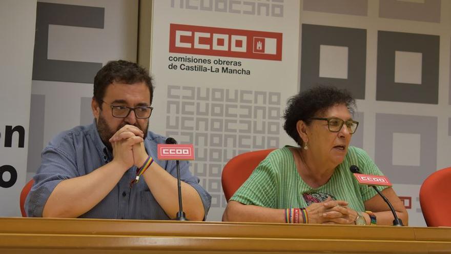 (Derecha) Maribel Blanco, presidenta Fundación Triángulo CLM. (Izquierda) José María Núñez, presidente Estatal