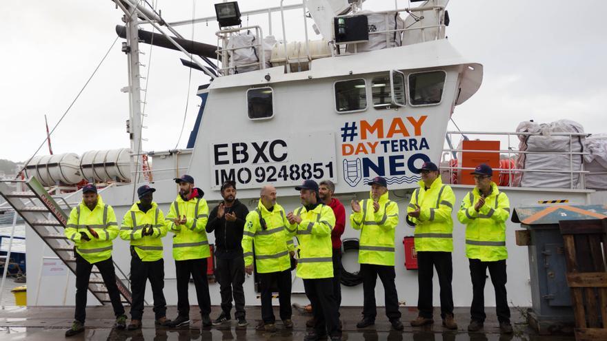 La tripulación del Aita Mari, a punto de Zarpar hacia el Mediterráneo