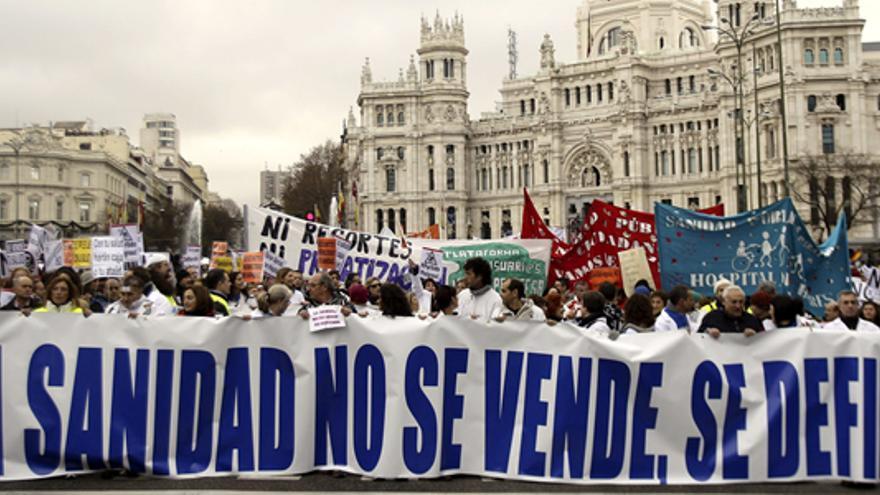 Marea Blanca en Madrid en 2012