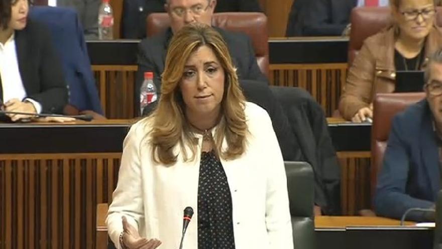 """Susana Díaz aconseja a Moreno que en 2016 reflexione y """"piense en Andalucía por encima de los intereses del PP"""""""