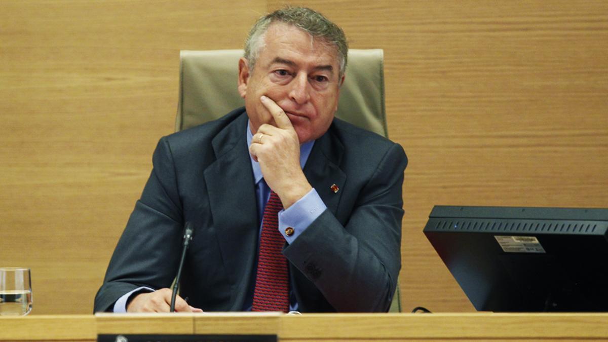 José Antonio Sánchez, en una comparecencia parlamentaria de 2017