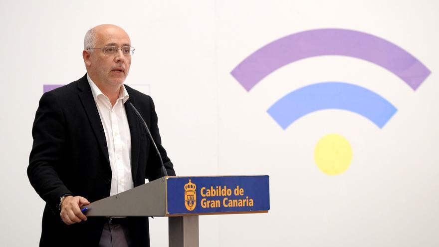 El presidente del Cabildo de Gran Canaria, Antonio Morales, en la I Conferencia Anual Democracia y Ciudadanía